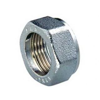"""Накидная гайка латунная никелированная  для трубы из нержавейки Ø 1/2"""" GofraFlex"""