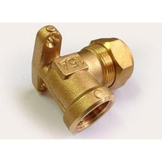 """Уголок с креплением обжимной (водорозетка) для трубы из нержавейки GofraFlex Ø 15-1/2"""""""
