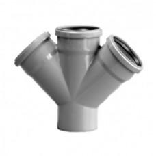 Крестовина одноплоскостная Ø110/110/110/110х45° для внутренней канализации