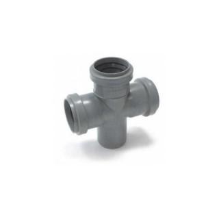 Крестовина одноплоскостная Ø50/50/50/50 х 90° для внутренней канализации