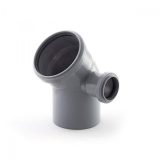 Отвод 110х50х45° градусов CЛЕВА для внутренней канализации