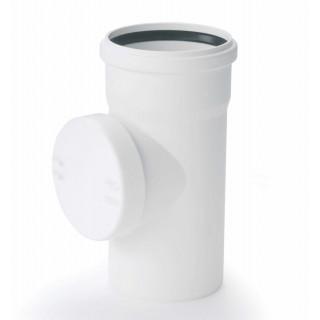 """Ревизия с уплотнительным кольцом канализационная (бесшумная) RAUPIANO PLUS """"REHAU"""""""