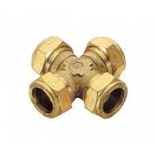 Крестовина обжимная Ø22 для медных труб (ЦАНГА)