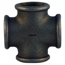 Крестовина чугунная Fittex Ø15 мм черная