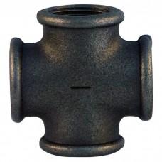 Крестовина чугунная Fittex O25 мм черная