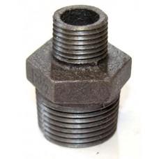 Ниппель чугунный переходной Ø 20х15 мм Fittex