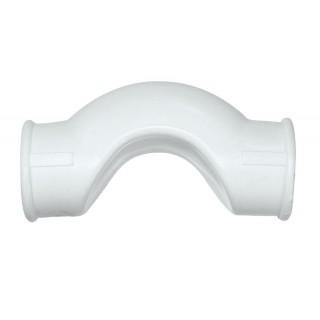 Обводное колено Kalde белый полипропилен
