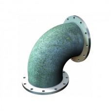 Отвод УФ из ВЧШГ с цементно-песчаным покрытием Ду 300х90° оцинкованный
