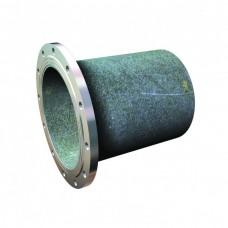 Патрубок ПФГ из ВЧШГ с цементно-песчаным покрытием Ду 100 -L350мм оцинкованный