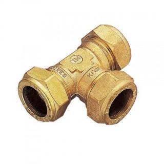 Тройник обжимной соединительный TIEMME Ø 10-10-10 для медных труб