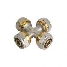 Крестовина для металлопластиковых труб (Цанга) Ø20х20х20х20