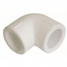 Угол полипропиленовый белый PP-R Ø63х45° градусов