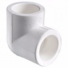 Угол полипропиленовый белый PP-R O63х90° градусов