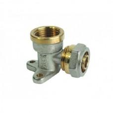 """Уголок с креплением (Водорозетка) для металлопластиковых труб (Цанга) Ø20х1/2"""""""