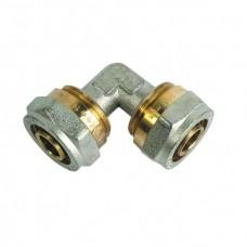 Уголок соединительный для металлопластиковых труб (Цанга) Ø26х26