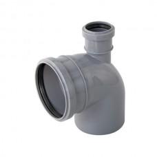 Отвод 110х50х90° градусов CВЕРХУ для внутренней канализации