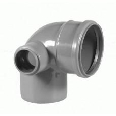 Отвод 110х50х90° градусов CЛЕВА для внутренней канализации