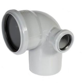 Отвод 110х50х90° градусов CПРАВА для внутренней канализации