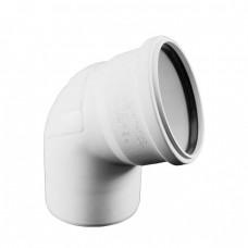 Отвод (Уголок) канализационный Rehau Raupiano Plus Ø75х90°