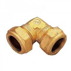 Угол обжимной соединительный TIEMME Ø 22-22 для медных труб