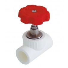Кран вентильный  пластиковый Kalde Ø32 мм белый