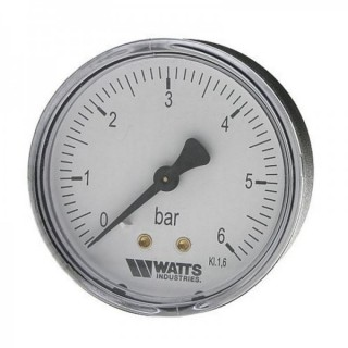 Манометр аксиальный WATTS F+R100 Ø50-1/4 6 bar