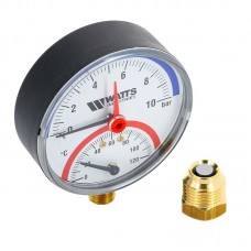 Термоманометр радиальный F+R828 Ø100x1/2-2,5 bar (120°С) WATTS Ind (10009472)