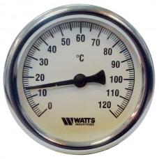 Термометр биметаллический F+R801 Ø63-120°С с погружной гильзой 100мм WATTS Ind (10005800)