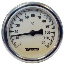 Термометр биметаллический F+R801 Ø80-120°С с погружной гильзой 75мм WATTS Ind (10005944)