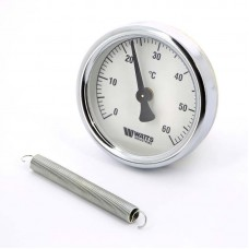 Термометр биметаллический накладной F+R810 TCM Ø63-120°С с пружиной WATTS Ind (10006504)