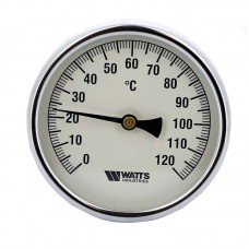 Термометр биметаллический самоуплотняющийся F+R801ISD Ø100-120°С с гильзой 50мм WATTS Ind (10006067)