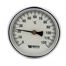 Термометр биметаллический самоуплотняющийся F+R801ISD Ø80-120°С с гильзой 50мм WATTS Ind (10005935)