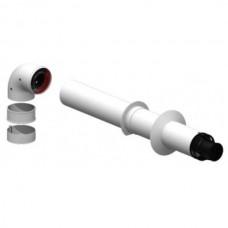 Коаксиальный комплект дымоудаления Ø 60/100 мм, длина 750 мм.