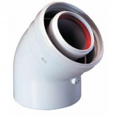 Коаксиальный отвод для турбированного котла отопления BAXI DN60/100-45° (KHG 714101510)