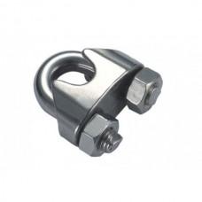 Зажим для тросса 6 мм канатный DIN 741 нержавеющий