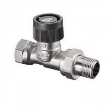 Вентиль прямой регулировочный 1/2 под термоголовку OVENTROP 1181104