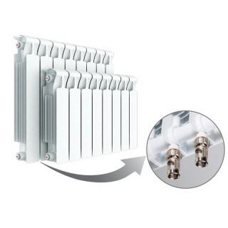 Радиатор биметаллический RIFAR Monolit Ventil 350 8 секций с нижним правым подключением
