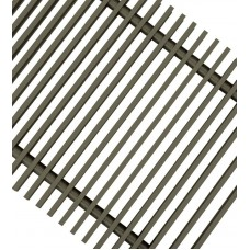 Решетка для напольных конвекторов ТЕМНАЯ БРОНЗА ESSAN PPA 250x3800 мм