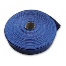 """Брезентовый шланг с резиновым слоем (синий) """"AGRO-FLAT"""" 1 1/2""""-50 м"""