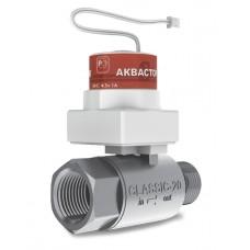 Кран шаровой электрический внутренняя-наружная резьба АКВАСТОРОЖ КЛАССИКА-20 ТК33