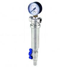 Фильтр грубой очистки обратной промывки с манометром универсальный 100мк RBM -1/2'' ВВ