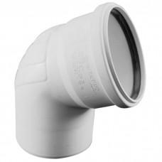 Отвод (Уголок) канализационный Rehau Raupiano Plus Ø75х67°