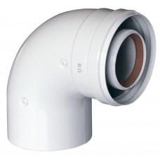 Коаксиальный отвод для турбированного котла отопления BAXI DN60/100-90° (KHG 714101410)